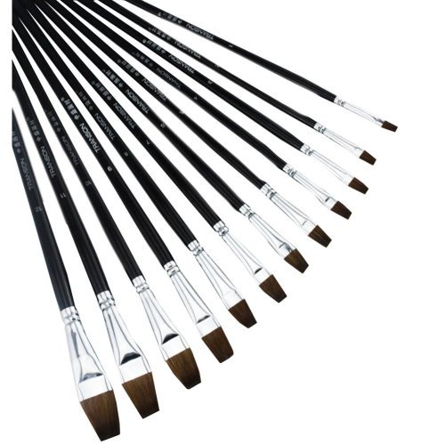 6 PCS Art Supplies Paint Brush Acrylic Paint Oil Painting - Dual Number