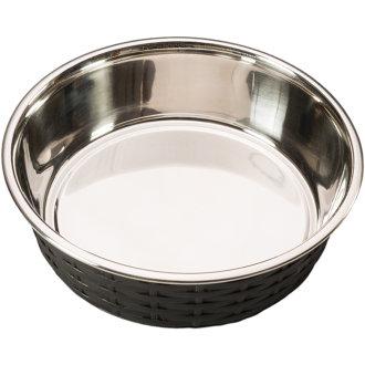 Soho Basket Weave Dish 15oz-Black