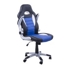 Homcom Swivel Office Chair Pu Leather Racing Computer Chair