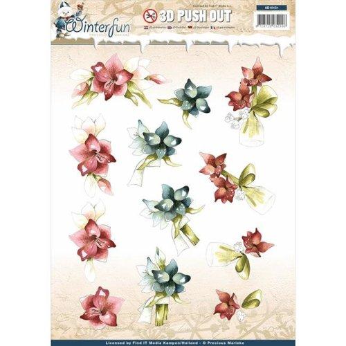 Find It Trading SB10131 Precious Marieke Punchout Sheet - Winter fun Winter Flower