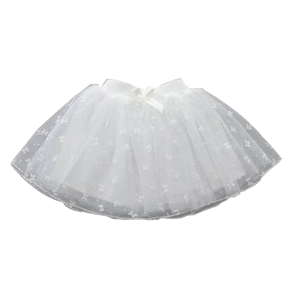 03eb148df [White Bow] Girls Tutu Skirt Tulle Princess Skirt Children Dress-up Fluffy  Skirt ...