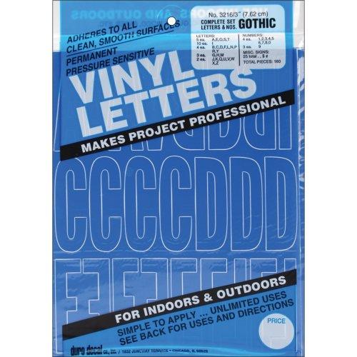 "Permanent Adhesive Vinyl Letters & Numbers 3"" 160/Pkg-Blue"
