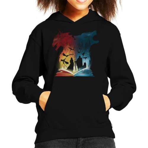 Book Of Fire And Ice Game Of Thrones Kid's Hooded Sweatshirt