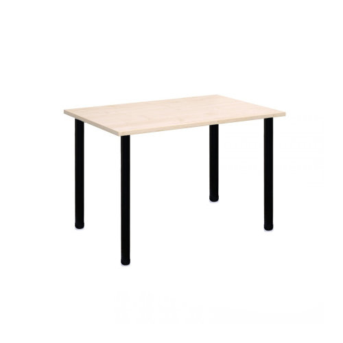 Computer Desk Office Dining Table Workstation Black Legs Maple Top 120x80cm