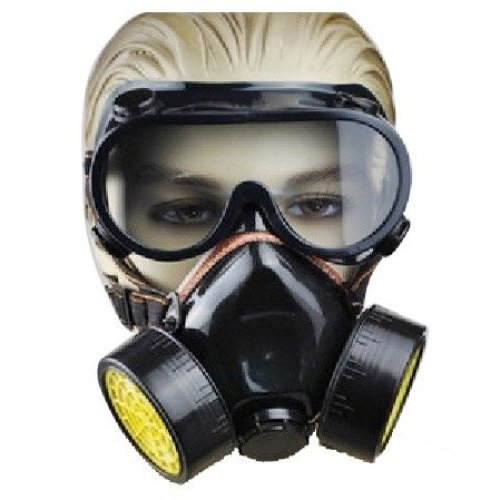 Trixes 2 Piece Spray Paint Dust Twin Cartridge Respirator Mask/goggles