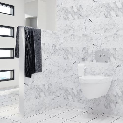 4 Bathroom Kitchen Marble Wall Tile Stickers Mix - 10 cm x 10 cm - 24 pcs.