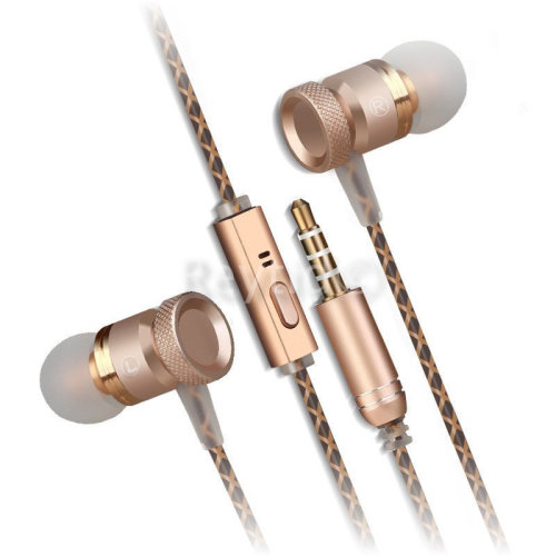 In-Ear Earphones Headphones Metal Mic Deep Bass, HD Sound iPhone Android Colours