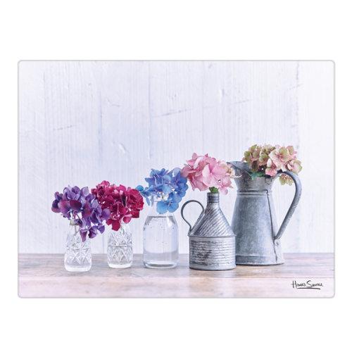 Hydrangea Collection Glass Worktop Saver