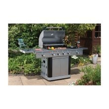 St Lucia Stainless Steel 4+2 Burner Barbecue