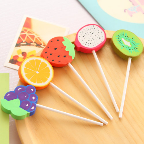 Fruity Lollipop Cute Food Erasers Novelty Fun Kids Rubbers Party Gift Bag Fillers Assorted 12 Pc