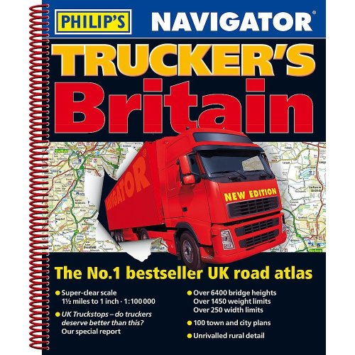 Philip's 2019 Navigator Trucker's Britain: Spiral (Philips Road Atlas)