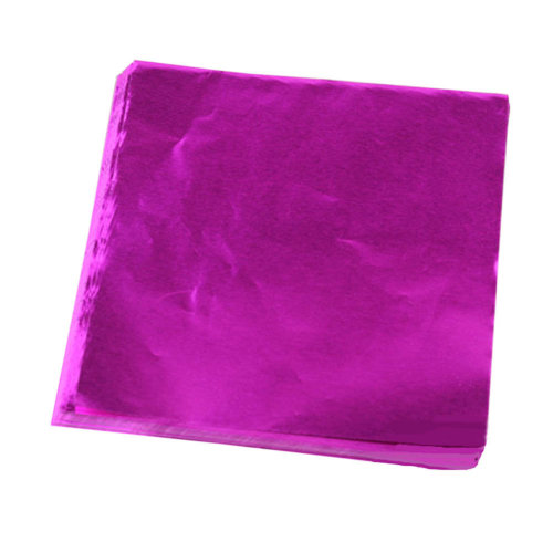 100pcs Handmade Aluminum Foil Packaging Paper Candy Chocolate Thick Wrappers- Pink