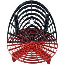 Grit Shield Bucket Insert (Red) with Washboard Bucket Insert (Black)