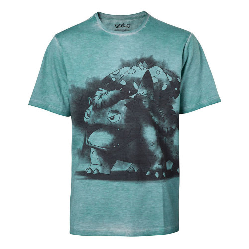 87a1277db POKEMON Men's Venusaur Oil Washed T-Shirt, Medium, Turquoise  (TS576024POK-M) (New) on OnBuy