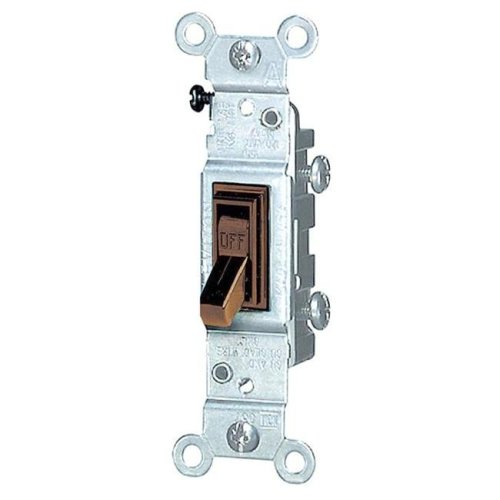 Leviton Brown Residential Grade AC Quiet Switch Toggle  202-1451-2