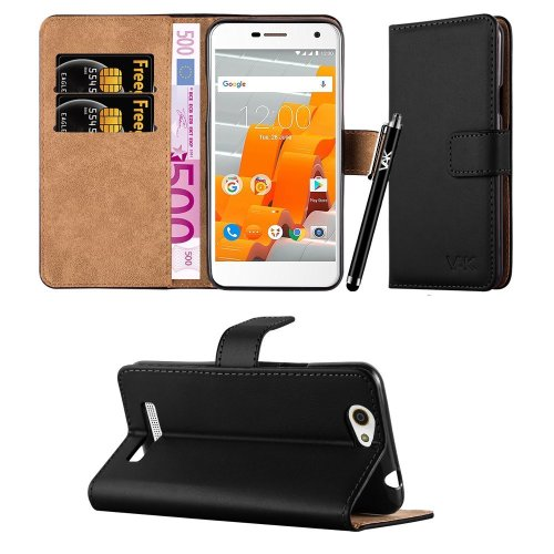 For Wileyfox Spark Plus Leather Wallet Case Cover
