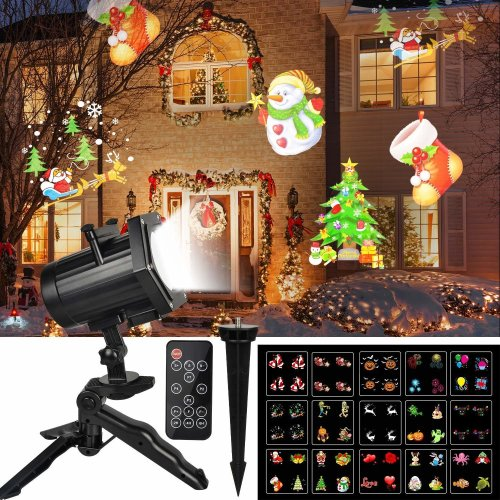 Christmas Lights Projector Unifun 15 Patterns Animation Led Landscape Lamp Waterproof Outdoor Decoration For On