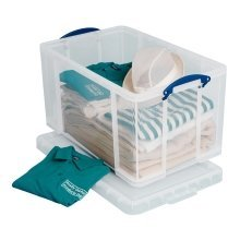 Really Useful Clear Plastic Storage Box 84 Litre