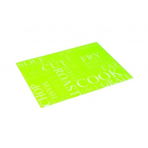 Actions Lime Green Glass Worktop Saver Protector Chopping Cutting Board