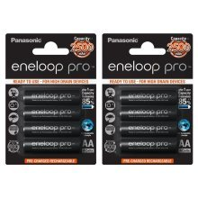 8x Panasonic Eneloop PRO AA HR06 2500mAh NiMH Rechargeable Batteries Ready 2 Use