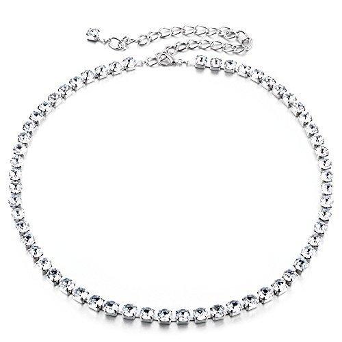 Women Silver Waist Chain Waist Belt Rhinestone Studded