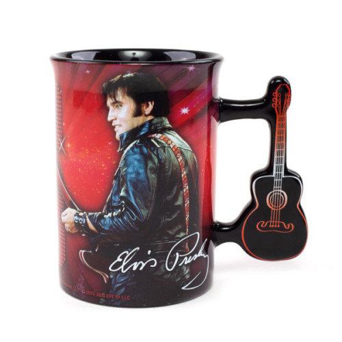 Officially Licensed Elvis '68 Special Guitar Handle Mug