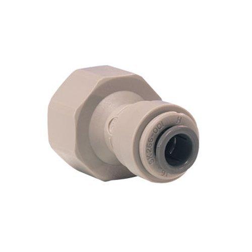 John Guest Female Adaptor 5/16 inch Tube OD x 1/2 inch BSP Thread Flat End (one supplied)