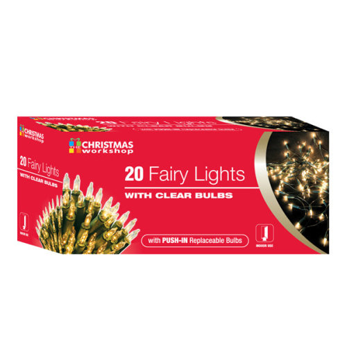 Christmas Workshop 20 Shadeless Clear Fairy Lights Box - Xmas Decoration Tree -  lights clear fairy christmas xmas decoration tree party colour multi