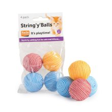 String 'y' Balls Cat Toy (4pk)