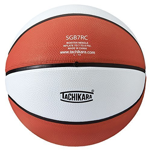 Tachikara Colored Regulation Size BasketBall, Orange-White