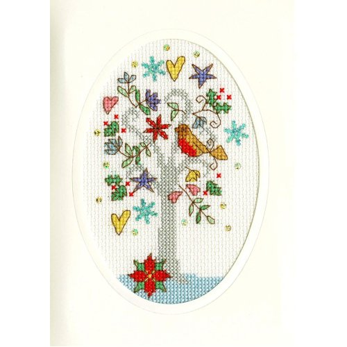 Bothy Threads Cross Stitch Kit - Christmas cards :   Winter Wishes  XMAS22