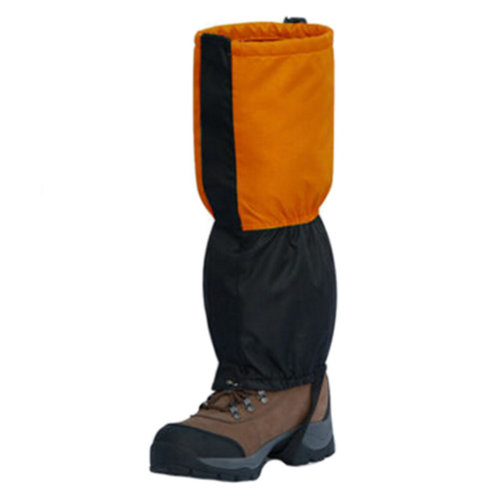 Waterproof Shoe Gaiters Foot Strap For Running Walking Hiking Orange,1 Pair