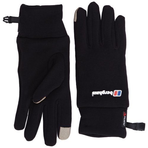 Berghaus Touch Screen Adult's Outdoor Hiking Gloves available in Black - Small/Medium