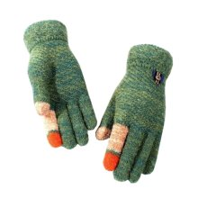 Beautiful Red Diamond Gloves Double Thicken Children Warm Mittens(6-10 Years)