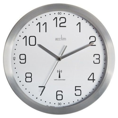 Acctim 74337 Mason Radio Controlled Wall Clock Silver