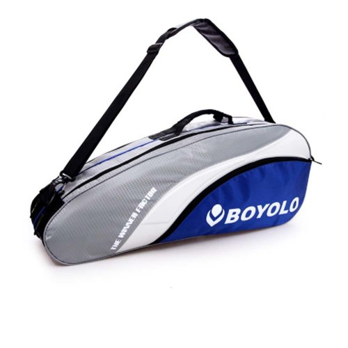 Single Shoulder Waterproof And Dustproof Racket Bag 6 Racquet Bag,Gray