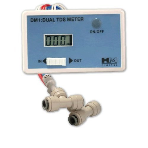 DM-1 In-Line Dual TDS Monitor, 0-9990 ppm Range, +/- 2% Readout Accuracy