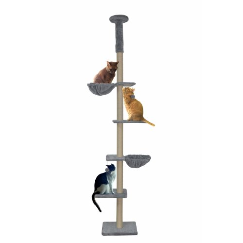 Roypet Cat Activity Tree with Scratching Posts and Condos,Grey … (M)