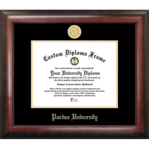 Purdue University  Gold Embossed Diploma Frame