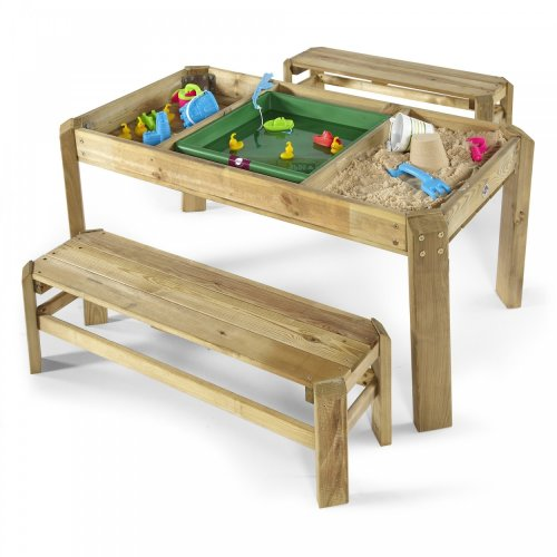 Plum Premium Wooden Activity Table and Benches Play Table