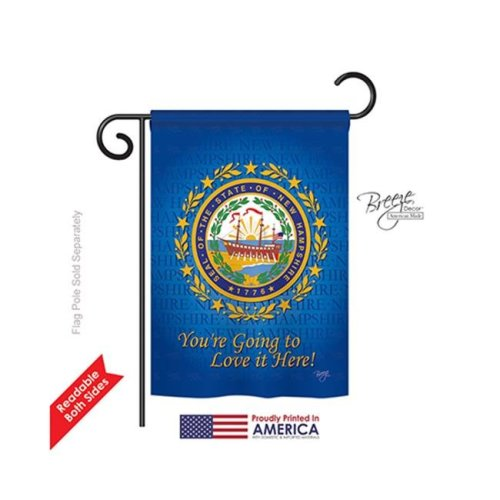 Breeze Decor 58145 States New Hampshire 2-Sided Impression Garden Flag - 13 x 18.5 in.