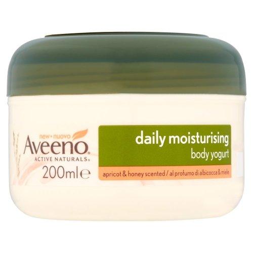 AveenoDaily Moisturising Body Yogurt, 200 ml, Apricot and Honey Scented