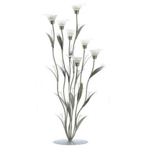Zingz & Thingz 57070474 Silver Calla Lily Candle Holder