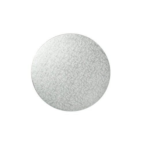 "8"" Thin Silver Round Cake Board 3mm Thick"