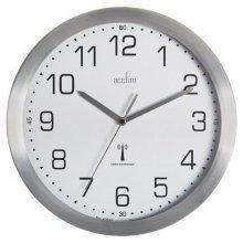 Acctim 74337 Mason Radio Controlled Wall Clock Silver