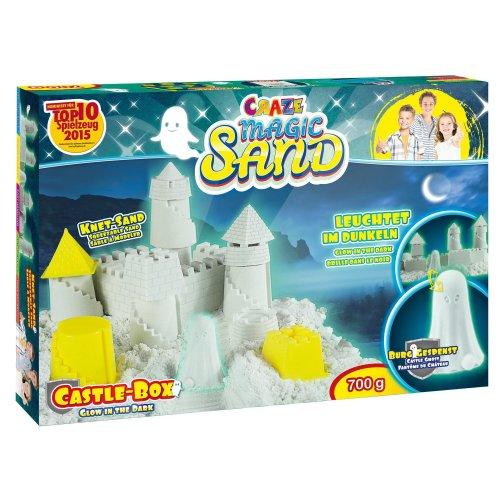 Craze Magic Sand Glow In The Dark Box, Castle, 700 g