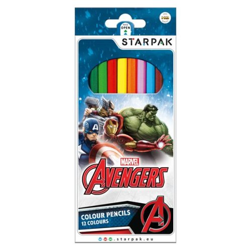 AVENGERS Pack of 12 x Colouring Pencils 12 Colours