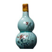Creative Vase Hand-painted Chinese Vase Decor Vase With Lotus Pattern, No.3