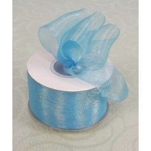 Organza Ribbon - 38 mm x 22.5 m, Pale Blue