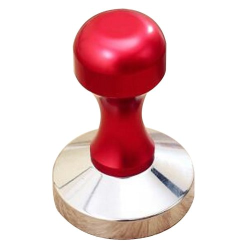 Stainless Steel Espresso Hand Tamper Flat Base 58mm [Red]